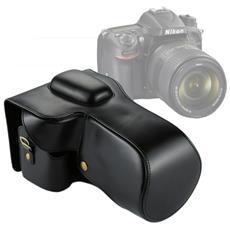 Custodia Finta Pelle Per Nikon D7200 / D7100 / D7000 Per Lenti 18-200 / 18-140mm