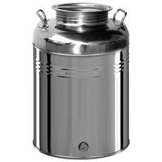 Contenitore in acciaio inox 50 Lt per olio con predisposizione rubinetto