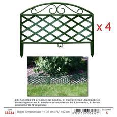 Bordo Ornamentale Per Giardino Verde In Pe (''h'' 37 Cm)