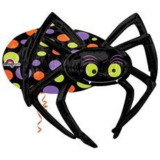 Palloncino Mylar Halloween Ragno Grande 86 Cm *11402