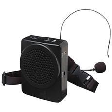 Amplificatore Portatile Utilissimo In Visite Guidate, Oratori E In Qualunque Caso Si Renda Necessario Amplificare La Propria Voce. 25w, 2.5'', 10v, 350mah, 0.31kg, Nero - Bm-536b Diffusore Da Cintura Cir.ric.25w