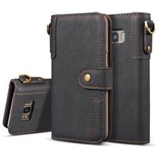 Custodia Cover Retrò Portafoglio Finta Pelle Per Smartphone Samsung Galaxy S8