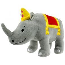 Bumbum Plush, Toy rhinoceros, Grigio, Rosso, Giallo, Felpato