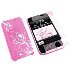 Hardjac Graffito Protezione Iphone+ Schermo Pink Kn-8260