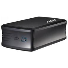 Box per Hard Disk Esterno modello AHT03 Ride Formato2x3.5'' Sata Interfaccia USB 3.0 Funzione Raid Con alimentatore incluso Pro Series Col. Nero