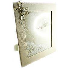 photo frame 'belle de soie' beige (20x25 cm) - [ l3250]