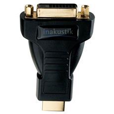 0083241, HDMI M, DVI-D FM, Maschio / femmina, Nero, Oro