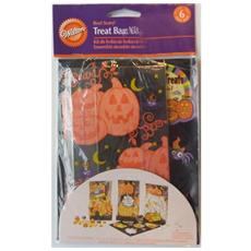 6 Sacchetti Porta Dolcetti Di Halloween Con Zucca