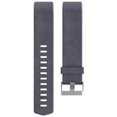 Cinturino di ricambio Charge 2 in vera pelle Taglia Large - Indaco