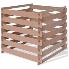 Compostiere Per Giardino In Wpc 90x90x85 Cm Marrone