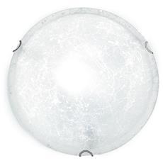 03/00712 - Plafoniera tonda con decoro simil ghiaccio bianco 60 watt E27 RICONDIZIONATO