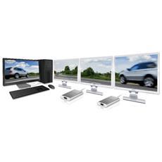 JUA210, USB 2.0, VGA-DB, Maschio / femmina, Bianco, 0,13m, 1920 x 1200 Pixels