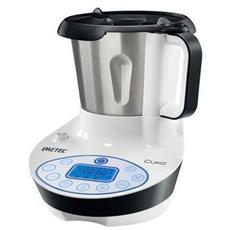 Cukò Robot da cucina multifunzione con cottura. Multicooker con 3 programmi automatici per risotti, pasta e vellutate, 10 Funzioni, potenza 570 W, 4 porzioni e ricettario incluso
