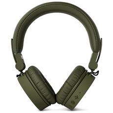 Cuffie Sovraurali Caps Wireless Headphones Bluetooth - Verde Militare