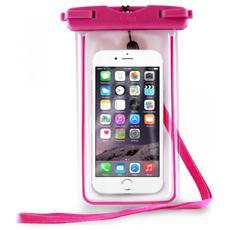 PURO - Custodia Impermeabile IPX8 Universale per Smartphone fino a 5.7'' - Rosa