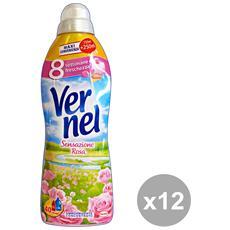 Set 12 Ammorbidente Concentrato 1 Lt. Sensazione Rosa Detergenti Casa