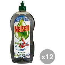 Set 12 Piatti 900 Ml. Carboni Attivi Detergenti Casa