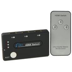 Hdmi Mini Switch 3 Porte Hd 1080p V1.3 Con Telecomando