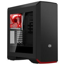 Case PC MasterCase Pro 6 Middle Tower ATX / Micro-ATX / Mini-ITX 2 Porte USB 3.0 Illuminazione Rossa Colore Nero