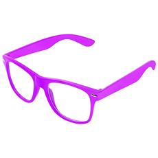 Occhiali stile wayfarer punk geek Hot Pink