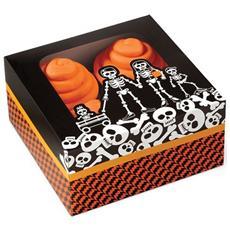 3 Scatole Con Scheletri Porta Dolcetti Halloween