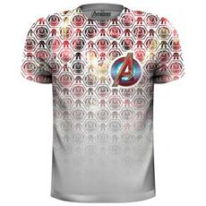 Marvel Comics - Avengers Icons Pattern Pocket Logo (t-shirt Unisex Tg. M)