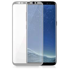 Vetro Temperato 3D Curvo Protezione Schermo da Bordo a Bordo 0,2 mm per Galaxy S8 + (1Pz) Colore Argento