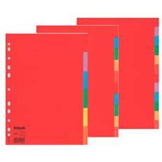 separatore economy 6tacche a4 cartoncino colorato 160gr esselte