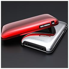 Shine Case Metallico Iphone 2in1pack Silver+red Kn-5017