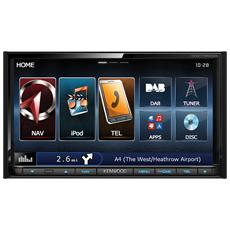 Navigatore GPS DNX7150DAB Display 7'' Tutta Europa con Aggiornamento Gratuito a Vita GPS Bluetooth e WiFi Nero