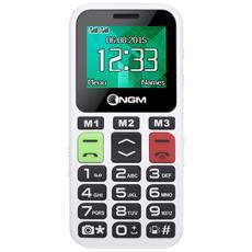 """Facile Ciao Bianco Dual Sim Display 1.8"""" +Slot MicroSD Fotocamera Bluetooth Radio FM - Italia"""