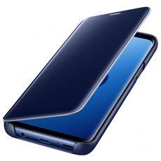 Flip Cover Custodia Clear View per Galaxy S9 colore Blu RICONDIZIONATO