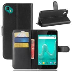 Custodia Cover Portafoglio Finta Pelle Per Smartphone Wiko Sunny 2 Plus