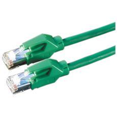 HP-FTP Patch cable Cat6, Green, 2m 2m Verde cavo di rete