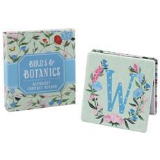 Birds And Botanics Specchietto Da Borsetta Con Lettera (w) (azzurro / rosa)