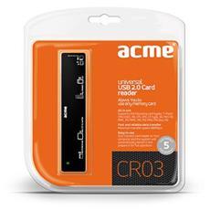 CR03, CF, Memory Stick (MS) , microSD (TransFlash) , miniSD, MMC, MS PRO, SD, SDHC, xD, USB 2.0, Nero, Blister, 105 x 23 x 18 mm, Windows 98 SE / ME / 2000 / XP / VISTA / 7 Apple Mac OS 9.1 / X