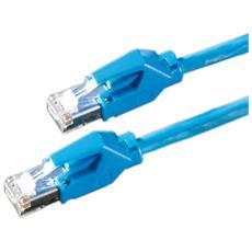 HP-FTP Patch cable Cat6, Blue, 2m 2m Blu cavo di rete
