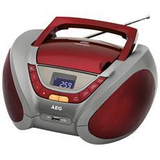 SR 4358 Radio CD supporto MP3 porta USB colore Rosso