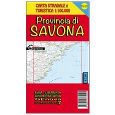 Provincia di Savona. Carta stradale e turistica 1:100.000