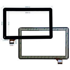 Ricambio Touch Screen Vetro Glass Nero Display Schermo Vetrino Per Majestic Tab 302n 3g 10.1'' + Kit Attrezzi