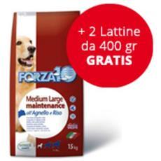 Cibo per cani Maintenance Medium / Large con Agnello e Riso 15 kg + 2 lattine da 400 gr