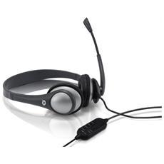 Cuffie con Microfono Connessione Cavo 2m - Nero / Grigio