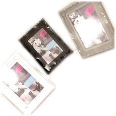 3 cornici 'scarlett' bianco nero mole - [ l0804]
