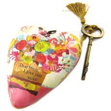 decorative oggetto 'art hearts' multicolore (cara mamma ti amo) - 10x85x35 cm - [ p1142]