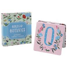 Birds And Botanics Specchietto Da Borsetta Con Lettera (o) (azzurro / rosa)