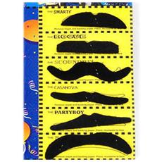 Set 6 Pezzi Di Baffi Finti Autoadesivi Mustache Moustache Assortiti Carnevale Party Halloween