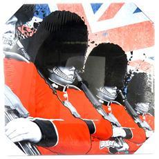 canvas 'so british' soldati (40x40 cm) - [ m5297]