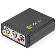 IDATA SPDIF-6E - Mini Convertitore da Video Composito e Audio Stereo a HDMI