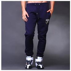 Pantalone Uomo Felpa Logo Laterale Xl Blu