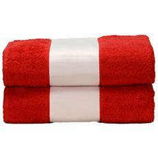 Telo Da Bagno Con Fascia Personalizzabile (taglia Unica) (rosso Fuoco)